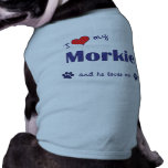 I Love My Morkie (Male Dog) Doggie Tee