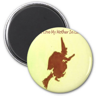I love my mother in law 6 cm round magnet