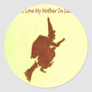 I love my mother in law round sticker