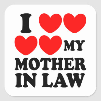 I Love My Mother In Law Sticker