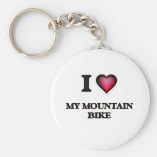 I Love My Mountain Bike Key Ring