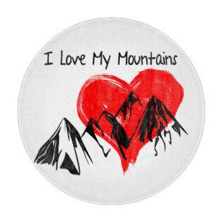I Love My Mountains! Cutting Board