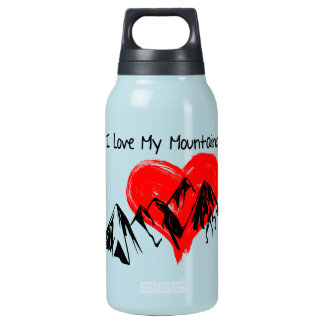 I Love My Mountains! Insulated Water Bottle