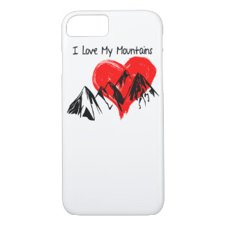 I Love My Mountains! iPhone 8/7 Case