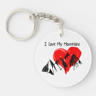 I Love My Mountains! Key Ring