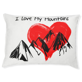 I Love My Mountains! Pet Bed