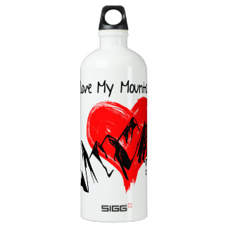 I Love My Mountains! Water Bottle