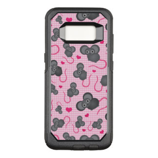 I love my mouse pattern in pink OtterBox commuter samsung galaxy s8 case