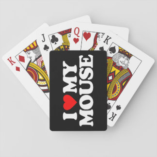 I LOVE MY MOUSE PLAYING CARDS