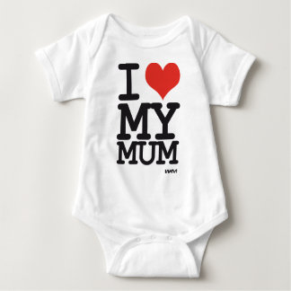 i love my mum baby bodysuit