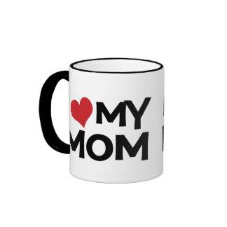 I Love My Mum Mother's Day Ringer Mug