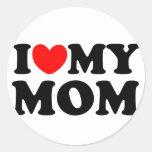 I Love My Mum Round Stickers