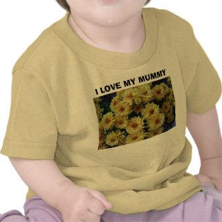 I LOVE MY MUMMY, Yellow Two Toned Mums Onsesie Shirts
