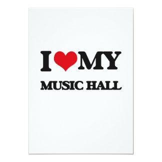 "I Love My MUSIC HALL 5"" X 7"" Invitation Card"