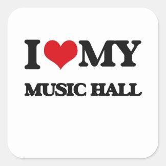 I Love My MUSIC HALL Stickers