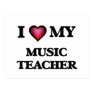 I love my Music Teacher Postcard