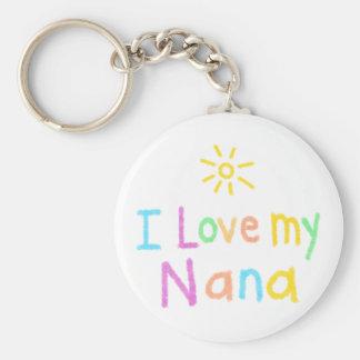 I Love My Nana Basic Round Button Key Ring