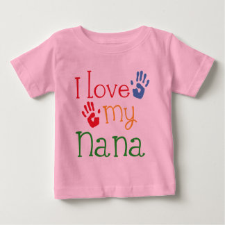 I Love My Nana Handprints Baby T-Shirt