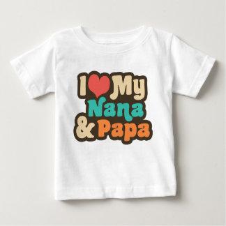 I Love My Nana & Papa Baby T-Shirt