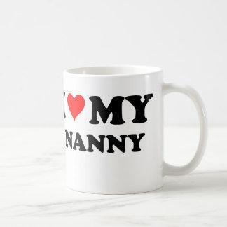 I Love My Nanny Basic White Mug