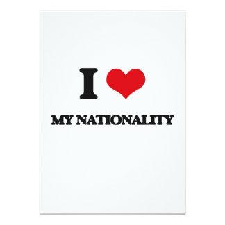 """I Love My Nationality 5"""" X 7"""" Invitation Card"""