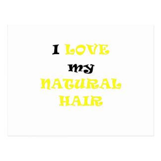 I Love my Natural Hair Post Cards