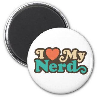 I Love My Nerd 6 Cm Round Magnet