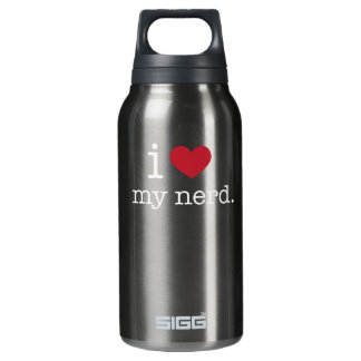 I love my nerd | I heart my nerd 0.3 Litre Insulated SIGG Thermos Water Bottle