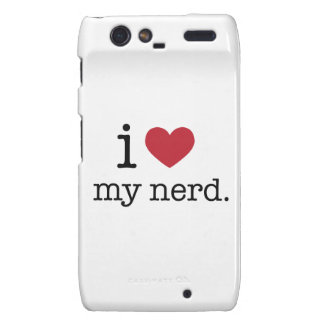 I love my nerd I heart my nerd Droid RAZR Cases