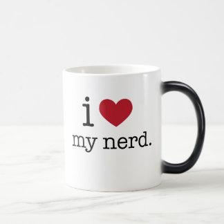 I love my nerd | I heart my nerd Magic Mug
