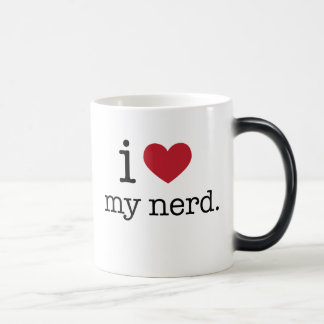 I love my nerd | I heart my nerd Morphing Mug