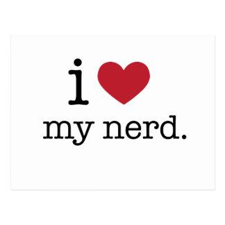 I love my nerd | I heart my nerd Postcard
