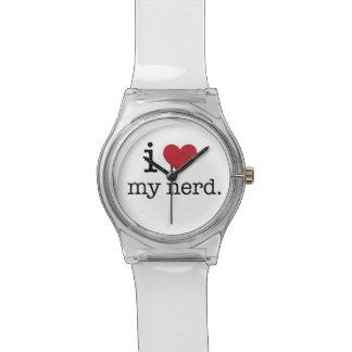 I love my nerd I heart my nerd Wristwatches