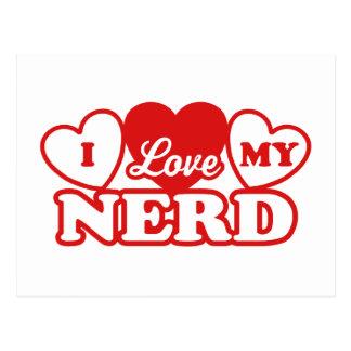 I Love My Nerd Postcard