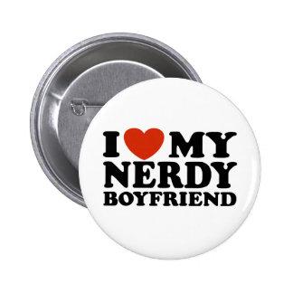 I Love My Nerdy Boyfriend 6 Cm Round Badge