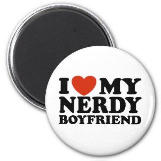 I Love My Nerdy Boyfriend 6 Cm Round Magnet