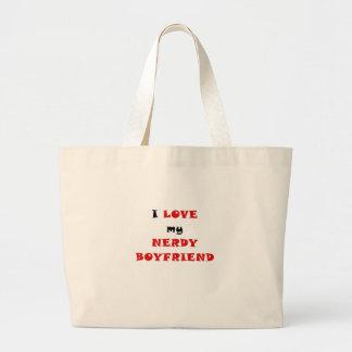 I Love my Nerdy Boyfriend Canvas Bags