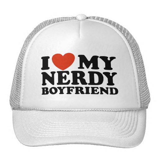 I Love My Nerdy Boyfriend Mesh Hats