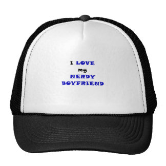 I Love my Nerdy Boyfriend Hats