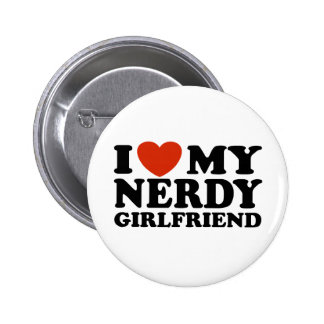 I Love My Nerdy Girlfriend 6 Cm Round Badge