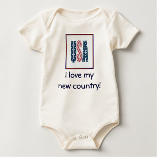 I love my new country! USA Bodysuit
