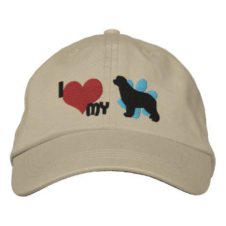 I Love my Newfoundland Embroidered Hat