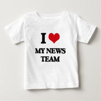 I Love My News Team T Shirts