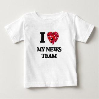 I Love My News Team Tee Shirt