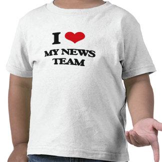 I Love My News Team Tshirt