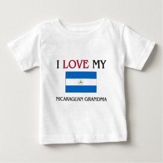 I Love My Nicaraguan Grandma Baby T-Shirt