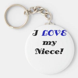 I Love my Niece Key Ring