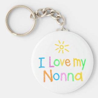 I Love My Nonna Basic Round Button Key Ring