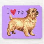I Love my Norfolk Terrier Mousepads
