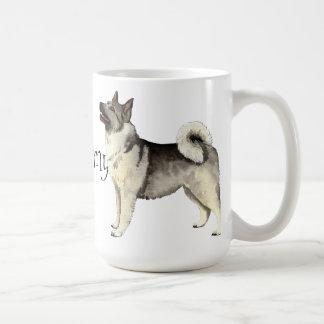 I Love my Norwegian Elkhound Basic White Mug